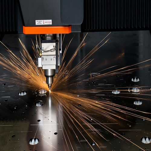 machine puncturing a metal